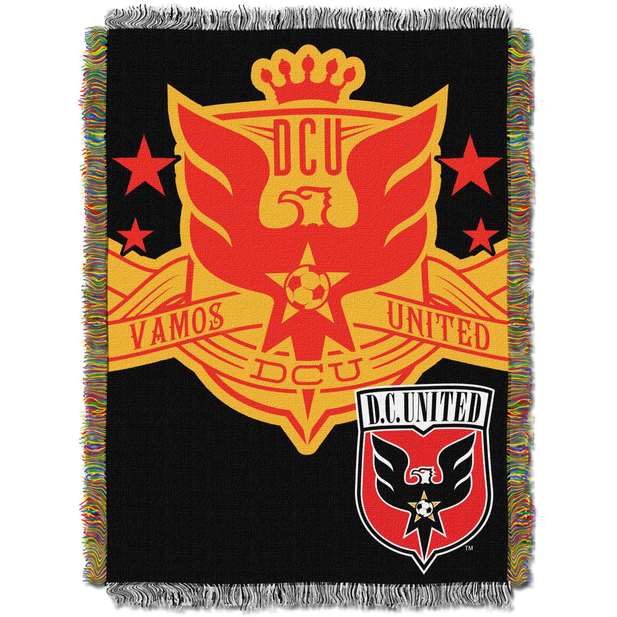 "MLS D.C. United Handmade 48"" x 60"" Woven Tapestry Throw"