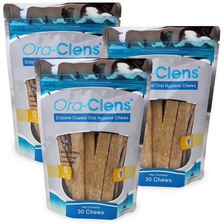 3 Pack Ora-Clens Oral Hygiene Chews S, 90 Chews