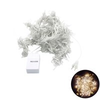 3x3M 300 LED Icicle String Lights Curtain Light for Christmas Home Outdoor Decoration with US Plug (Warm White)