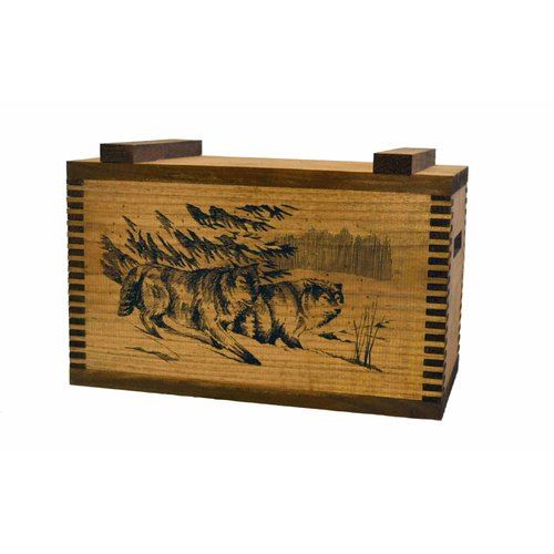 Evans Sports Standard Storage Box with Wolf Print