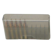 MTM 20RD SLIP-TOP MED RIFLE AMMO BOX POLY CLEAR SMOKE