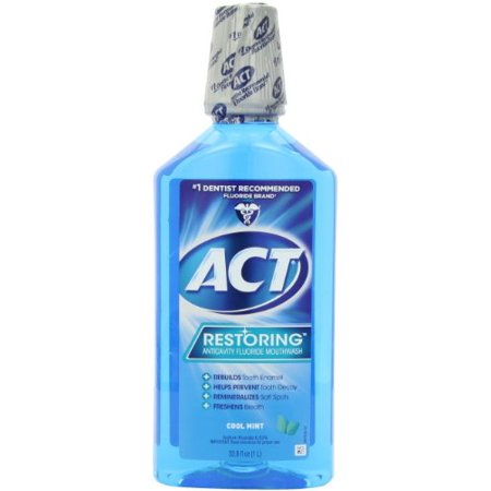 Splash Mount Pre Rinse (2 Pack - ACT Restoring Mouthwash Cool Splash Mint 33.8 Oz Each)