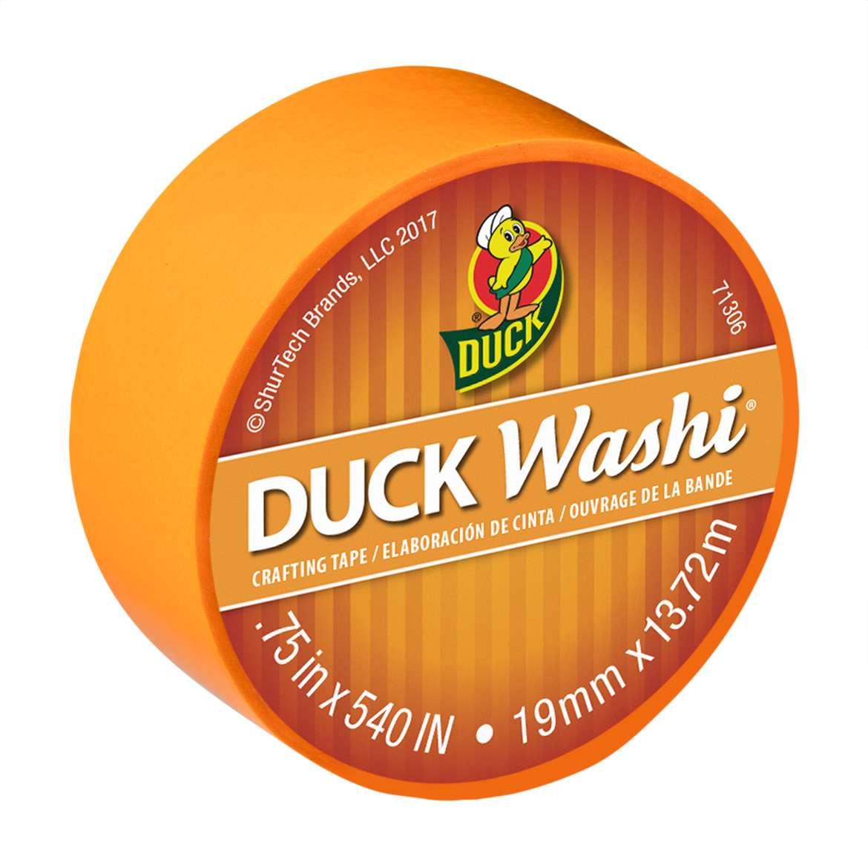 "Duck Brand Washi Crafting Tape, 0.75"" x 15 yards, Tangerine"