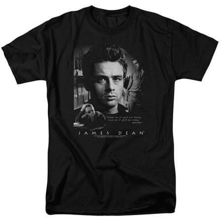 James Dean Mens  Dream Live T Shirt Black