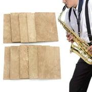 Windfall Saxophone Cork, 10Pcs Natural Sax Saxophone Neck Cork Sheet Mat Musical Instrument Accessories