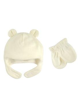 Baby Unisex Fleece Hat & Mittens 2pc Set