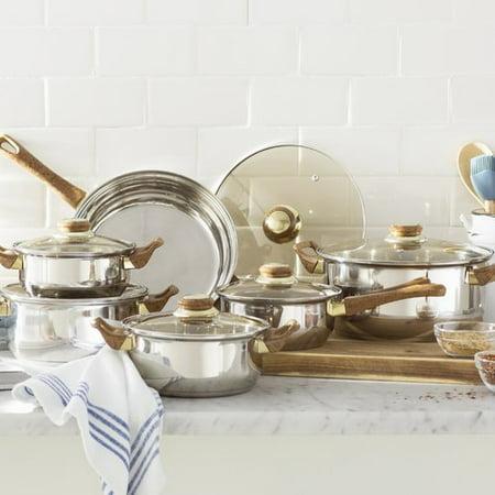 - Gourmet Chef Gourmet Chef 12 Stainless Steel Piece Cookware Set