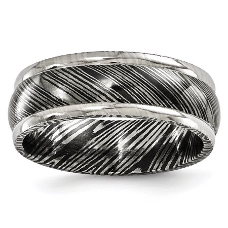 Edward Mirell Timoku 8mm Domed Ridged Edge Wedding Ring Band Size 10.50 Man Classic Fancy Fashion Jewelry Gift For Dad Mens For Him - image 11 de 11