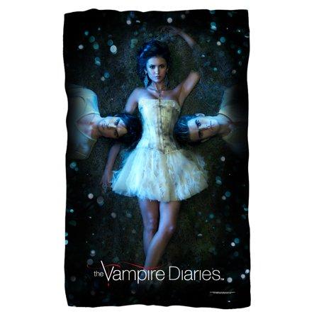 Vampire Diaries Why Choose Fleece Blanket White One Size