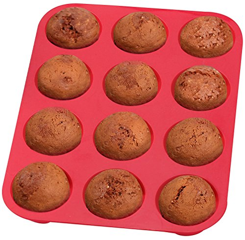 Top Rated Bellemain 12-Cup Non-Stick Muffin and Quiche Pan 100% Silicone, Nonstick, and... by