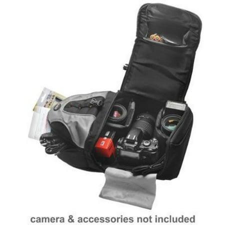 Deluxe Digital SLR Camera/Camcorder Sling Backpack For The Canon EOS Rebel T2i (550D), T1i, T3i, T3, XS, XSi, 7D, 5D, 60D Digital SLR Camera-Black/Silver