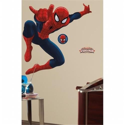 RoomMates RMK1796GM Spiderman - Ultimate Spiderman Peel & Stick Giant Wall Decal