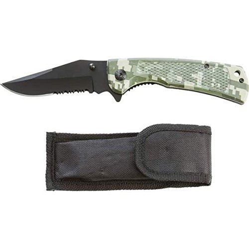 SKLL102 Digital Camo Large Liner Lock Knife, This is easy to use By Maxam