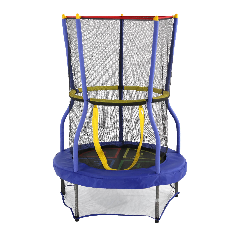 Skywalker Trampolines 40-Inch Bounce-N-Learn Trampoline, with Enclosure, Blue