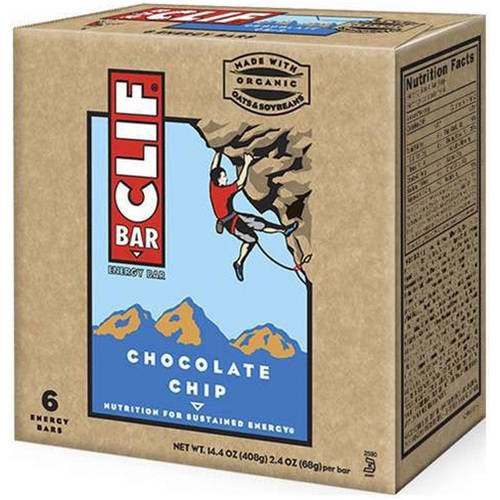 Clif Bar Chocolate Chip Energy Bars, 6-2.4 oz, (Pack of 9)