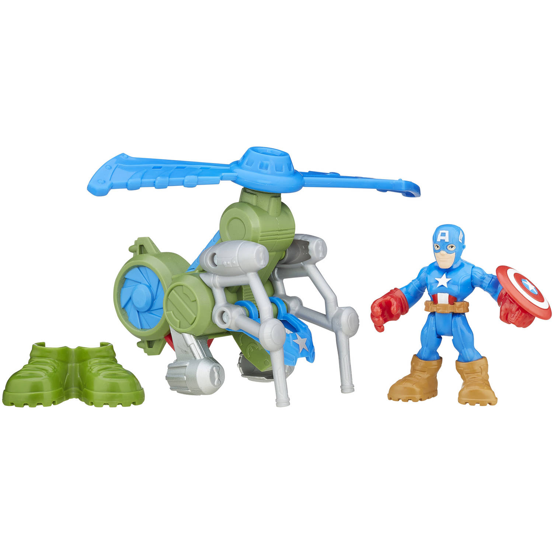 Playskool Heroes Super Hero Adventures Jungle Copter Captain America by Hasbro