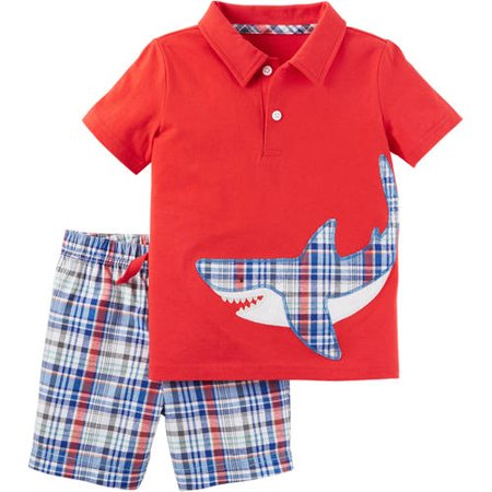 Child of Mine by Carter's Baby Toddler Boy Collared Shirt and Shorts 2 Piece Set