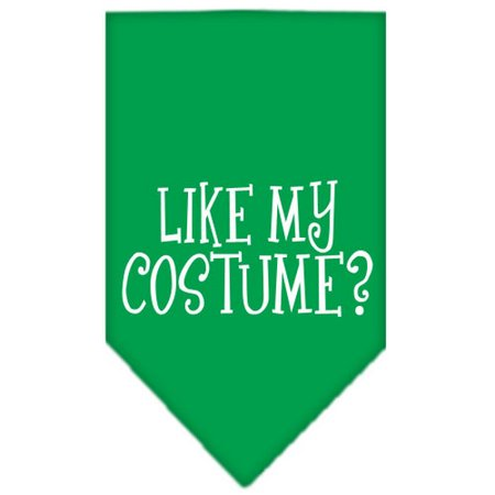 Like my costume? Screen Print Bandana Emerald Green Small
