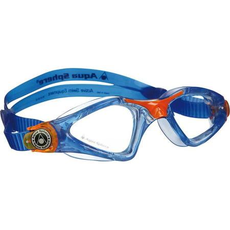 Aqua Sphere Kayenne Jr Goggles: Blue/Orange with Clear Lens