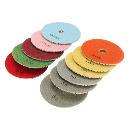 12PCS/Set 4'' Inch M14 Diamond Polishing Pads Wet Dry Set Kit For Granite Concrete Marble New - image 5 de 7