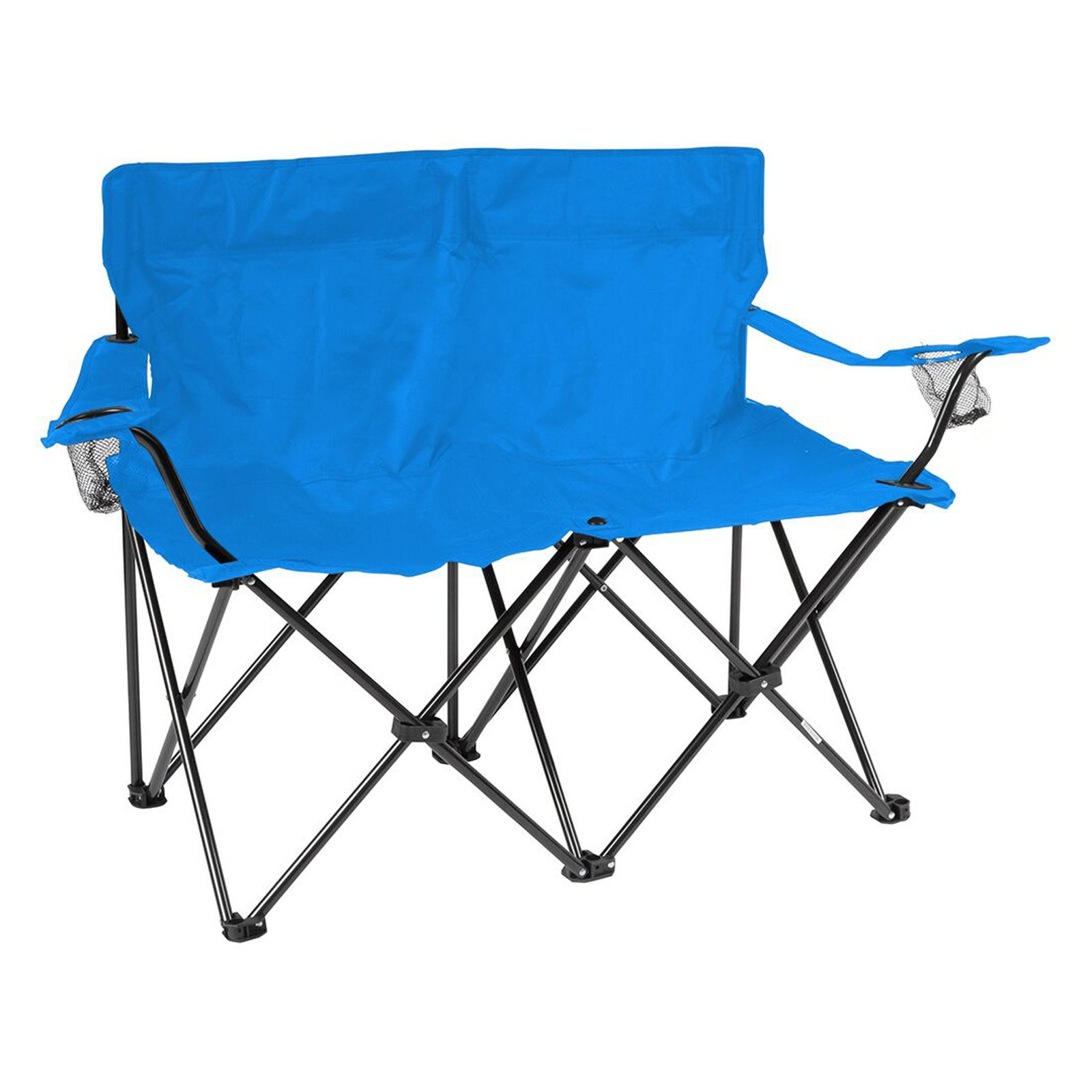 Loveseat Style Double Camp Chair with Steel Frame by Trademark Innovations (Blue,... by Trademark Innovations
