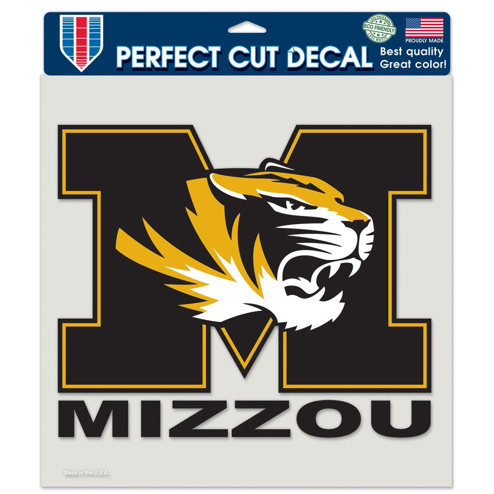 "Missouri Tigers Die-cut Decal - 8""x8"" Color"