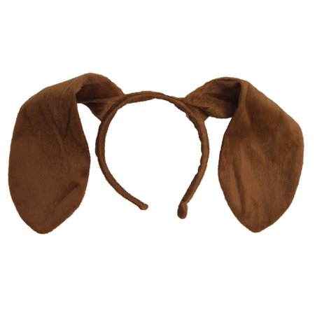 Animal Dog Long Brown Ears Headband Adult Child Puppy Pooch Costume Accessory](Brown Mouse Ears)