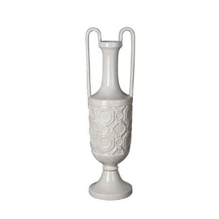 Privilege White Small Ceramic Vase With Handles Walmart