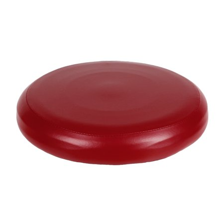 Round Elastic PU Leather Stool Cover Synthetic Bar Stool Seat Cover Slipcover Dinning Chair Cover--Wine Red ()
