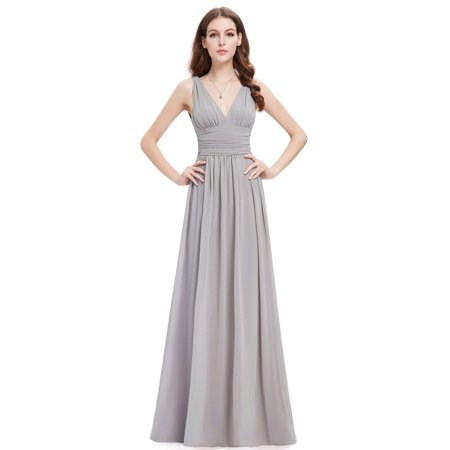 521dc63590525 Ever-Pretty Womens Plus Size Long Formal Evening Prom Party Bridesmaid Maxi  Dresses for Women Grey US16