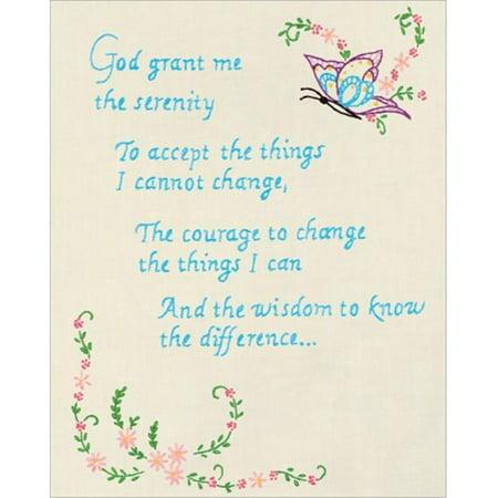"Serenity Prayer - Stamped Antique Sampler 11""X14"""