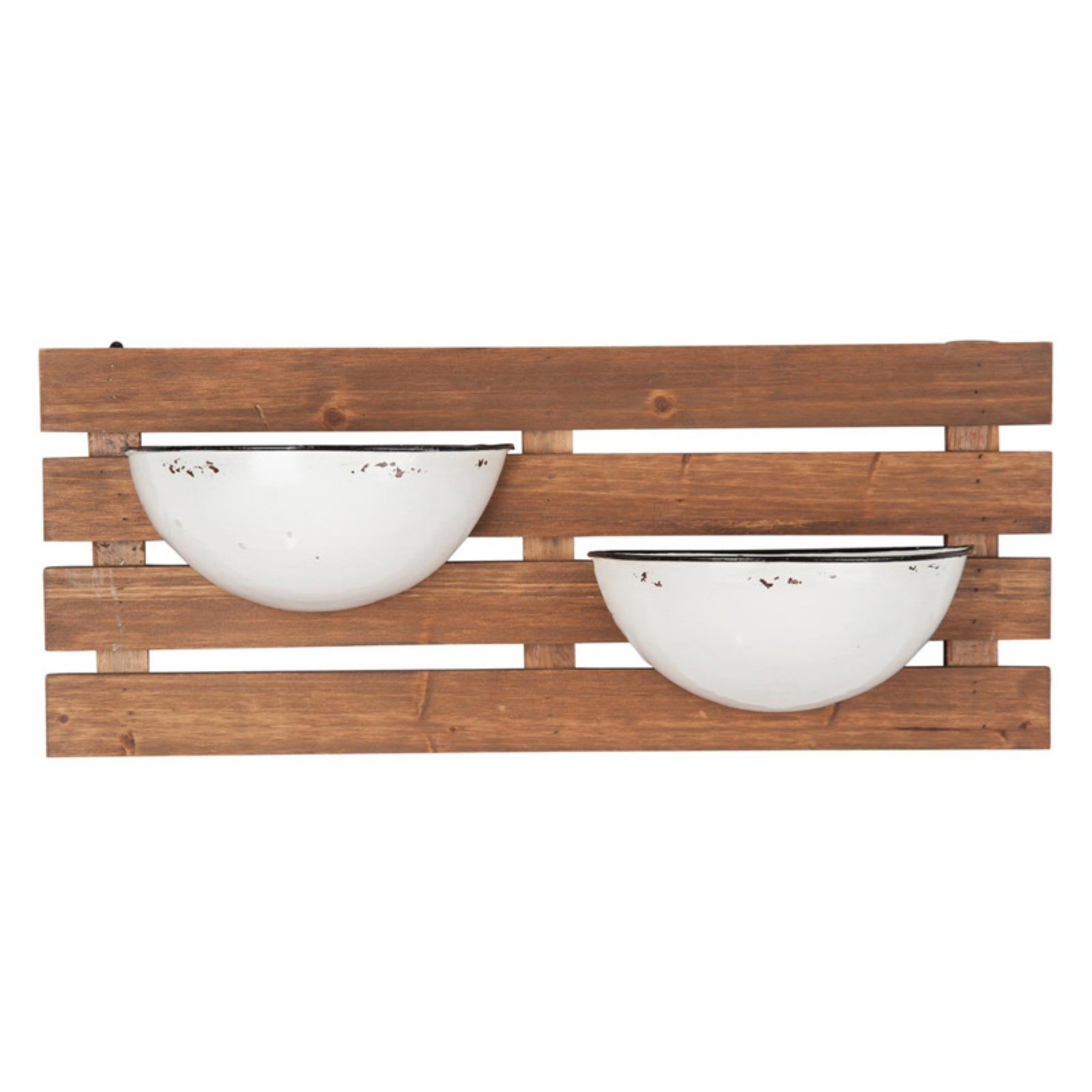 Foreside Home and Garden Enamel Pot Wall Planter - Walmart.com