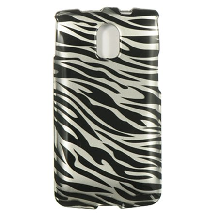 Insten Zebra Hard Snap On Back Protective Case Cover For Pantech Magnus P9090 - Black