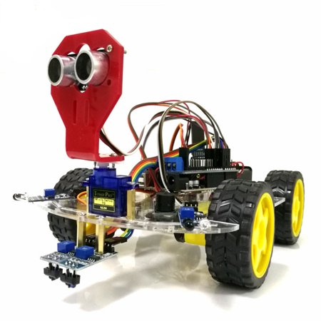 WiFi Control 2 Tracking Obstacle Avoidance Intelligent Robot Car