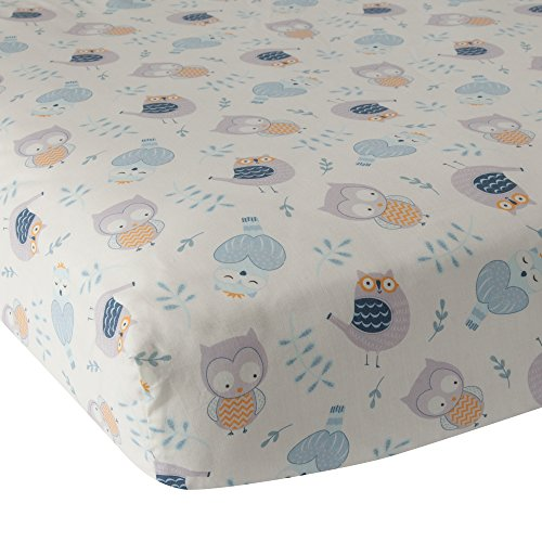 Lambs and Ivy Night Owl Collection Crib Sheet