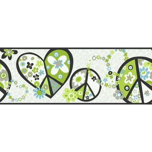 878166 Peace Sign Wallpaper Border PW3920b
