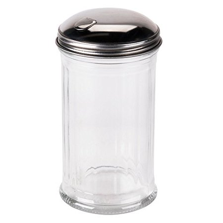 12 Ounce Glass Pourer - Tzipco's Flip Cap Glass Sugar Dispenser 12 Ounce