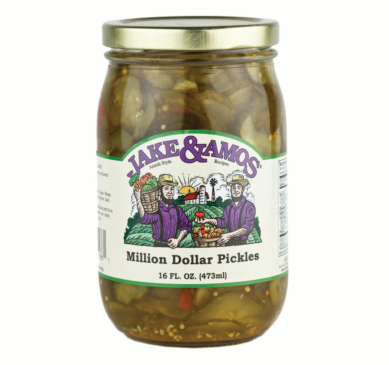 Jake & Amos Million Dollar Pickles 16oz (2 Pack)