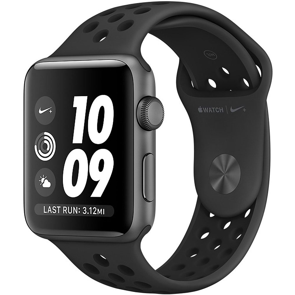 Watch Series 2 Nike+ 42mm Space Gray Aluminum Case Anthracite and Black Nike Sport Band MQ182LL/A