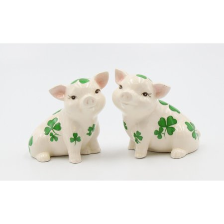 Shamrock Pigs Salt and Pepper Shakers