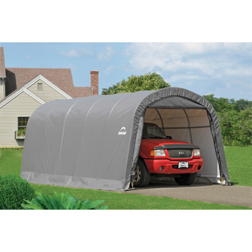Garage-in-a-Box 12' x 20' x 8' RoundTop Instant Garage, Gray by Instant Garages