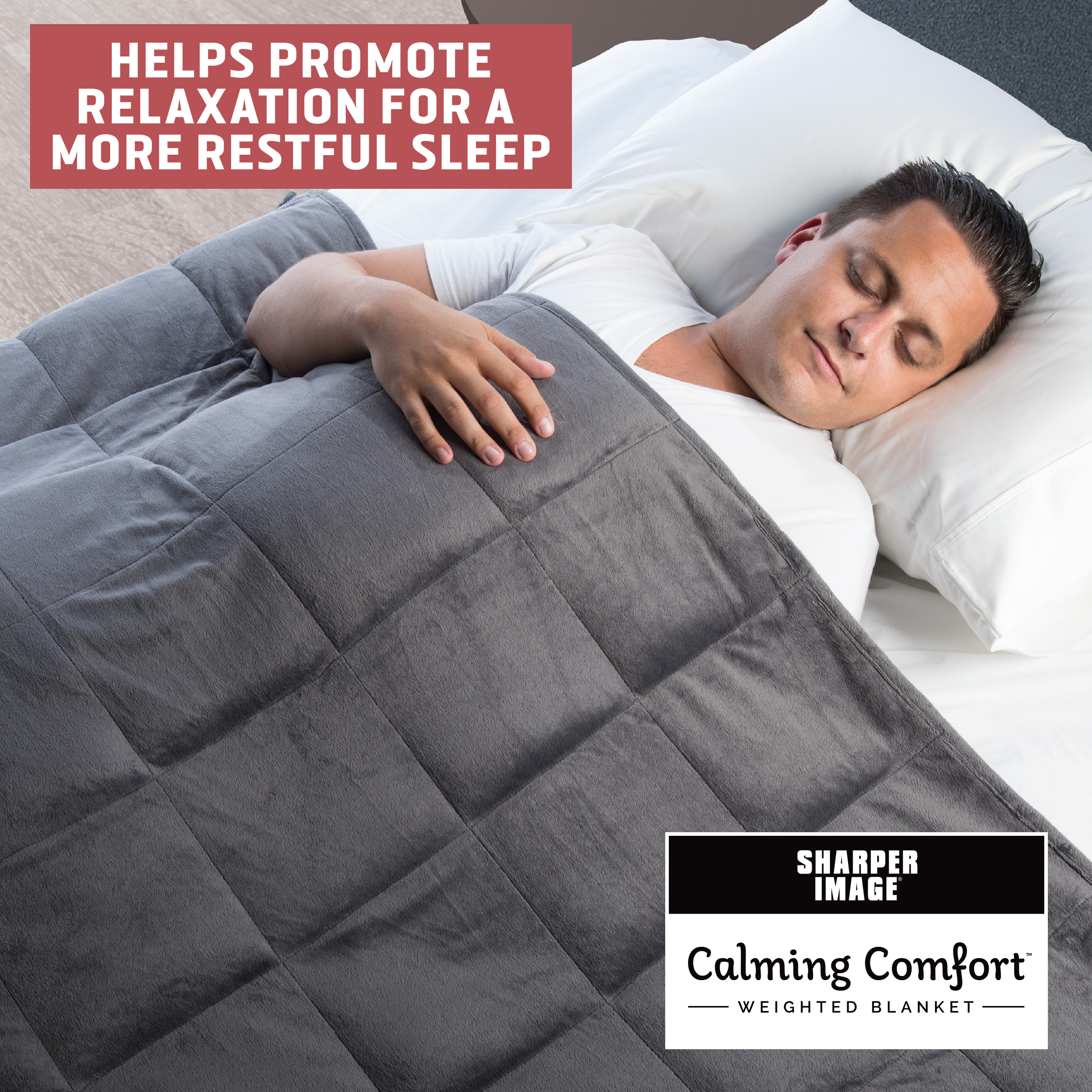 Calming Comfort Weighted Blanket Choose Your Weight As Seen On Tv