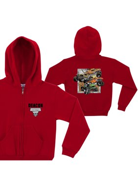 Personalized Monster Jam Crunch Bunch Red Toddler Boy Zip-Up Hoodie