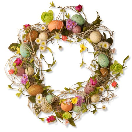 Garden Accents Easter Egg Wreath - 18-Inch