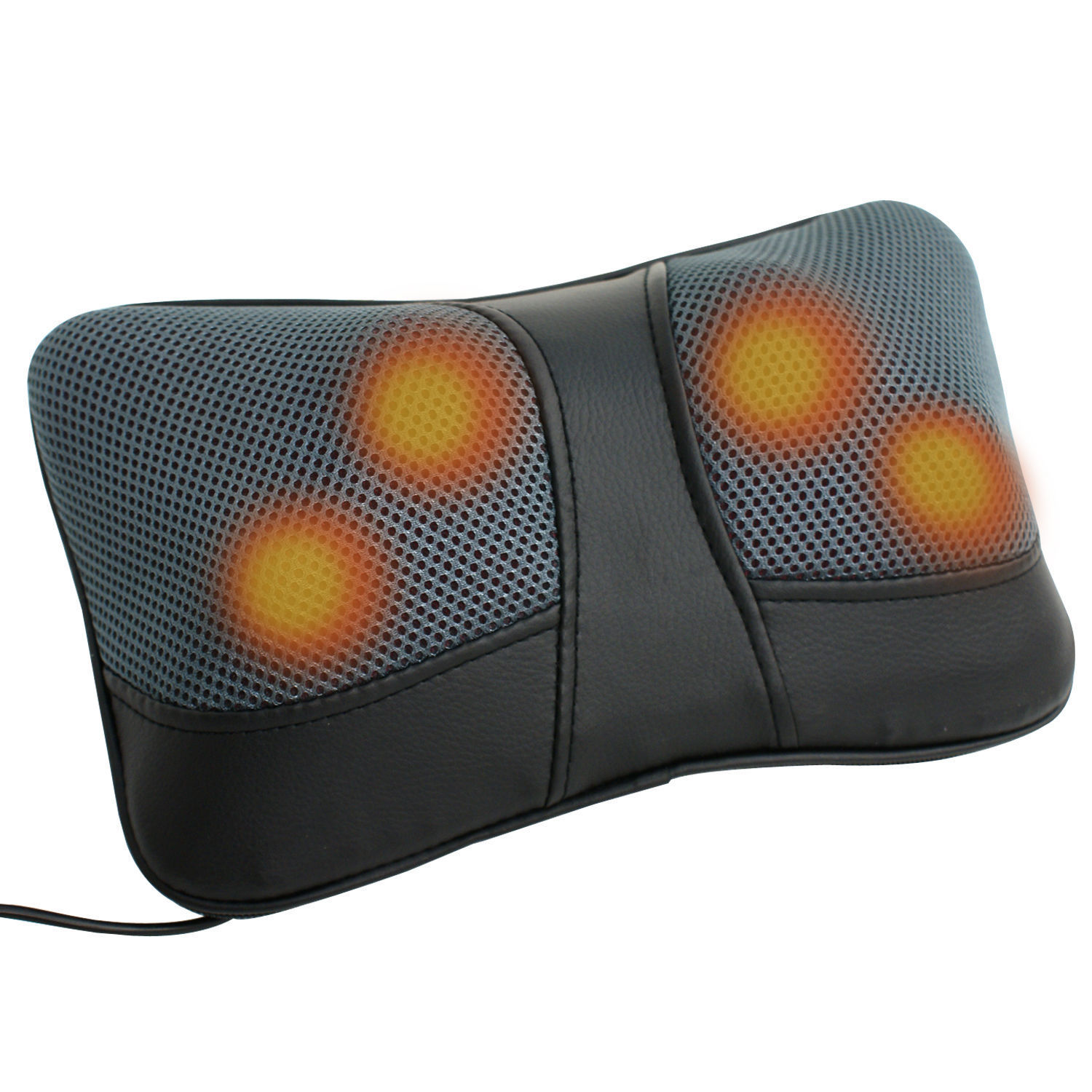 Zeny Neck Back Shiatsu Kneading Massage With Heat For Car/Office Chair Massager