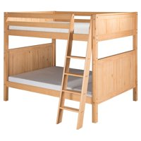 Camaflexi Full over Full Bunk Bed - Panel Headboard - Angle Ladder - Grey Finish