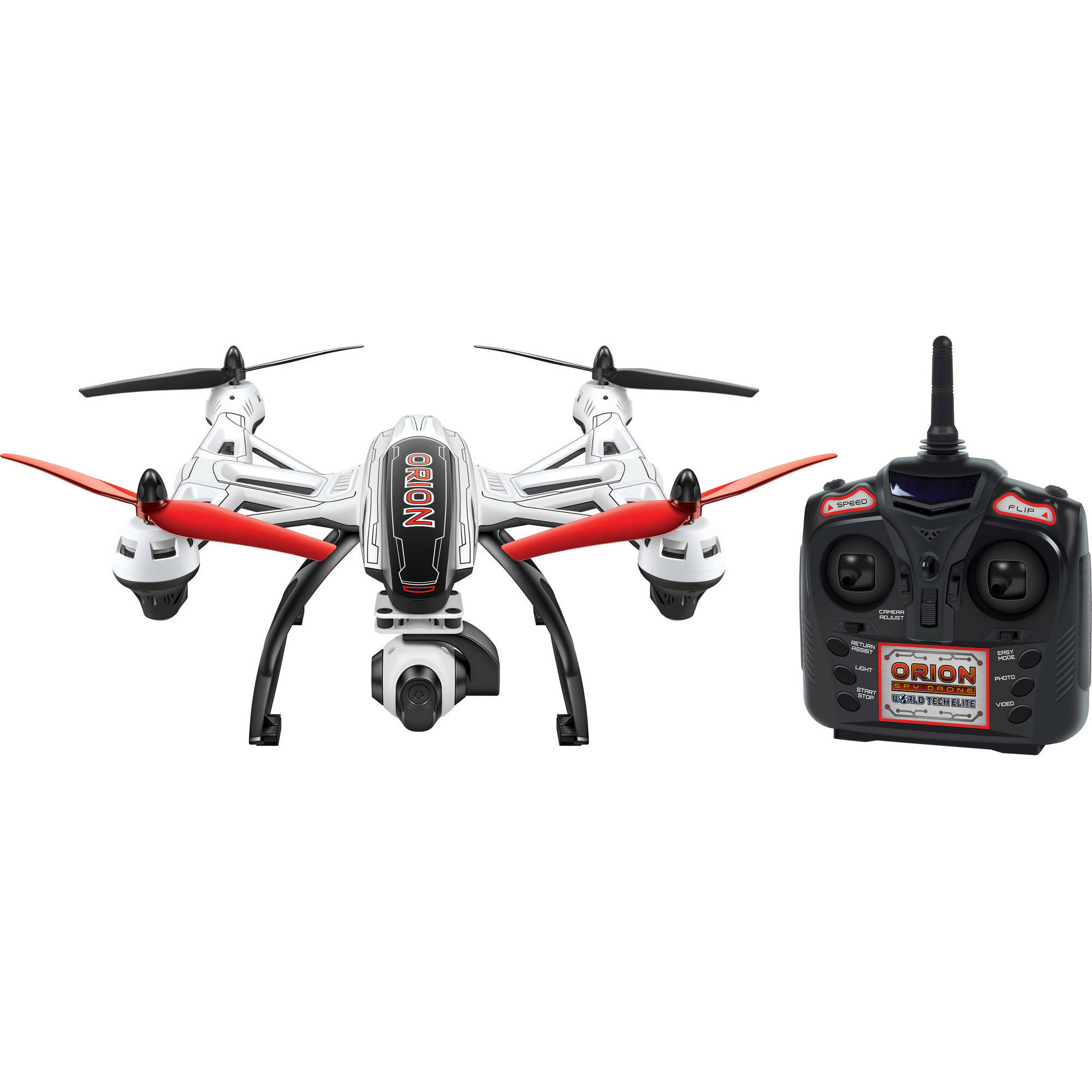 Elite Orion 1-Axis Gimbal 2.4GHz 4.5-Channel R C HD Camera Drone by World Tech Toys