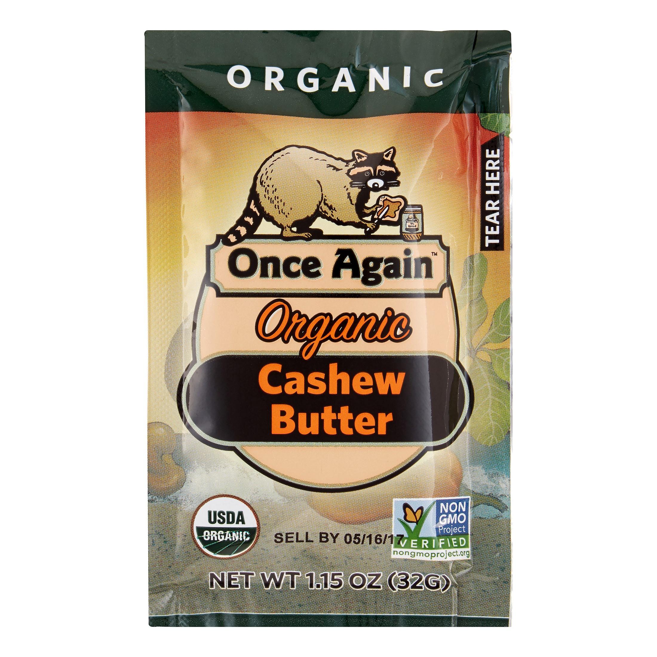 Once Again Organic Cashew Butter, 1.15 Oz