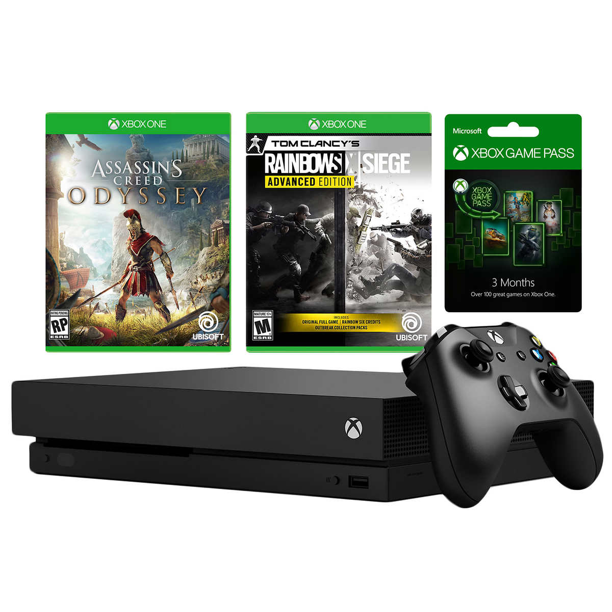 Xbox One X 1tb Assassin S Creed Odyssey Rainbow Six Siege