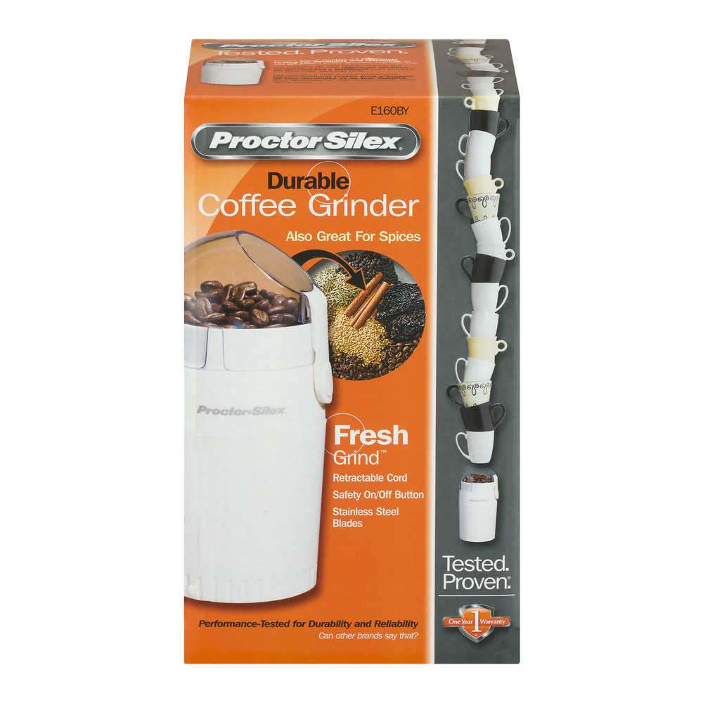 Proctor SilexE160BY Fresh Grind - Coffee grinder - white